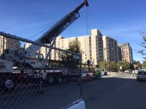 Construction along K Street NW. Photo by Staff Editor Lisa Thomas